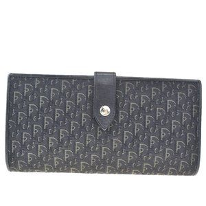 Christian Dior Trotter Pattern Long Trifold Wallet